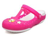 Crocs - Carlie MJ Flower Hello Kitty AS Fuchsia/White Nữ