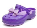 Crocs - Crocs Carlie Bow Mary Jane PS Neon Purple/Iris Bé Gái