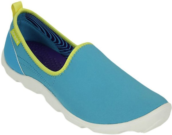 Crocs - Duet Busy Day Skimmer W Electric Blue/White Nữ