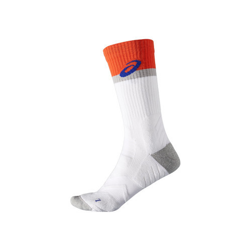 Asics Athlete Crew Socks White/Orange (ZK2463.0540)