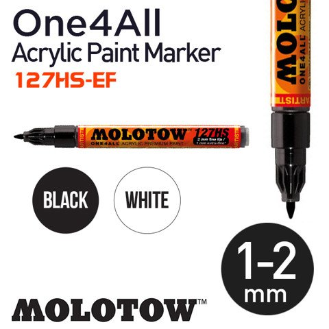 Bút marker Molotow One4All Acrylic Paint, nét 1-2 mm