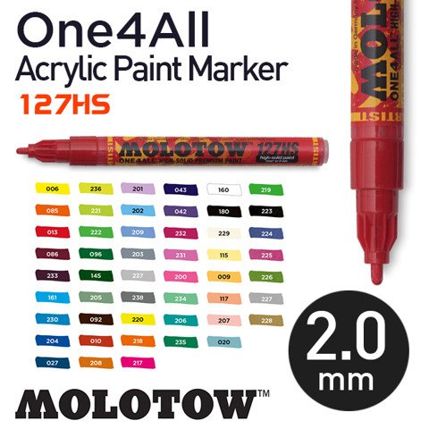 Bút marker Molotow One4All Acrylic Paint, nét 2 mm
