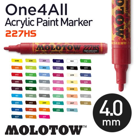 Bút marker Molotow One4All Acrylic Paint, nét 4 mm