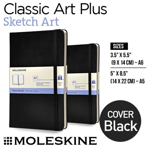 Sổ Moleskine Classic Notebooks, Sketch Art - Black cover