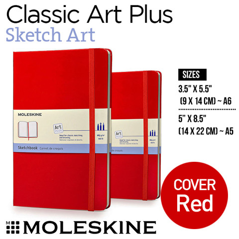 Sổ Moleskine Classic Notebooks, Sketch Art - Red cover