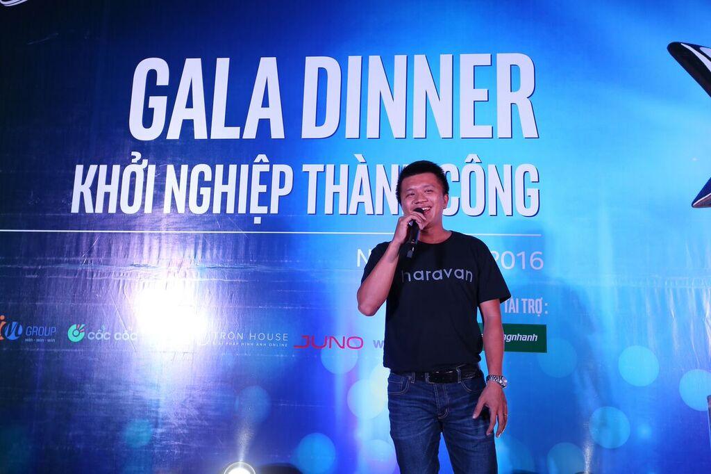 Anh Huỳnh Lâm Hồ, CEO của Haravan cũng có đôi lời phát biểu về cuộc thi Khởi nghiệp thành công đến các đối tác và các chủ shop tham gia cuộc thi