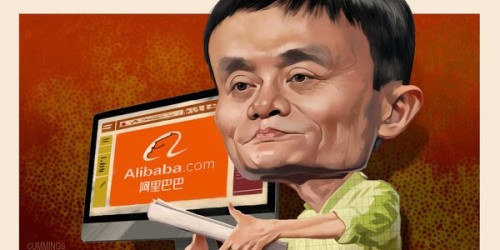 Joe Cummings illustration of Jack Ma