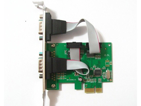 Card PCIe to COM RS232 2Port DIEWU WCH382L