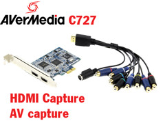 Card PCI-E to HDMI, AV, Svideo AverMedia C727