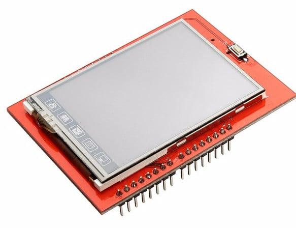 Kết quả hình ảnh cho Màn Hình Cảm Ứng Arduino TFT Shield 2.4 Inch