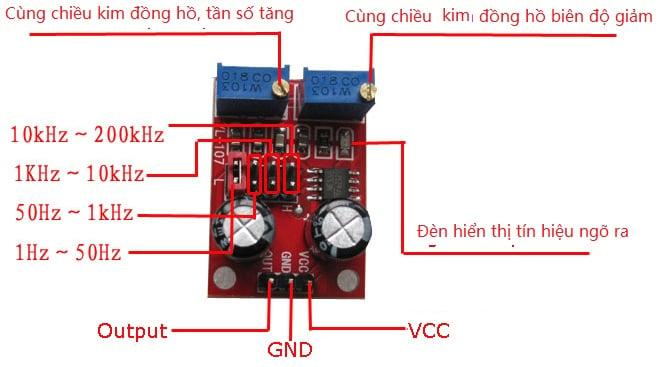 Kết quả hình ảnh cho Module Tạo Xung NE555