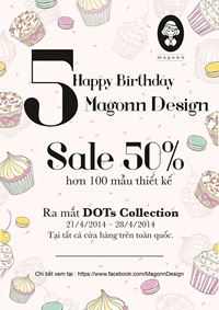 HAPPY BIRTHDAY MAGONN 5th !! CRAZY SALE! [off 50% selected items]