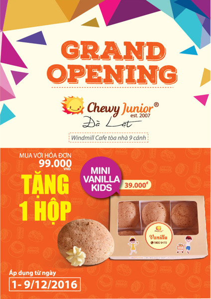 GRAND OPENING CHEWY JUNIOR ĐÀ LẠT