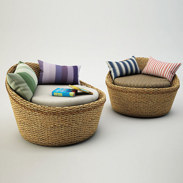 Round Rattan Chair M & Veins