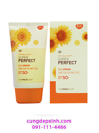 Kem chống nắng The Face Shop Natural Sun Eco Sun Cream SPF 50+ PA++