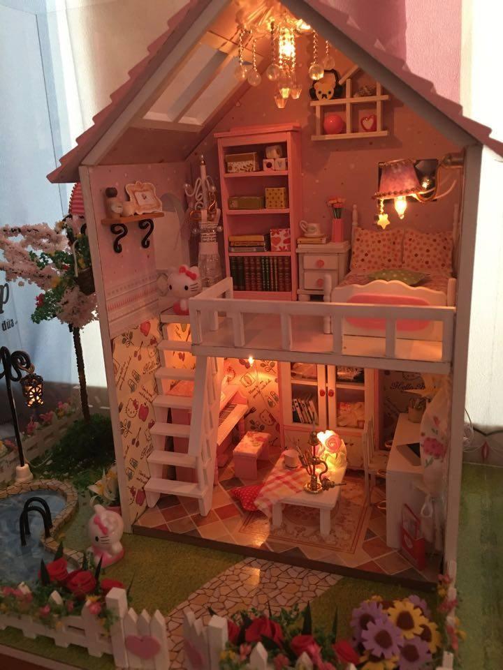 nhà thu nhỏ bằng gỗ DIY