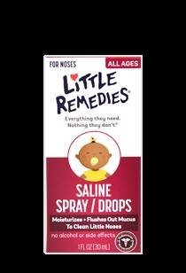 Thuốc Xịt Mũi Little Remedies Saline Spray/Drops