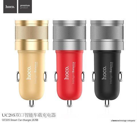 Sạc ô tô Hoco UC205 Dual USB Car Charger Adapter
