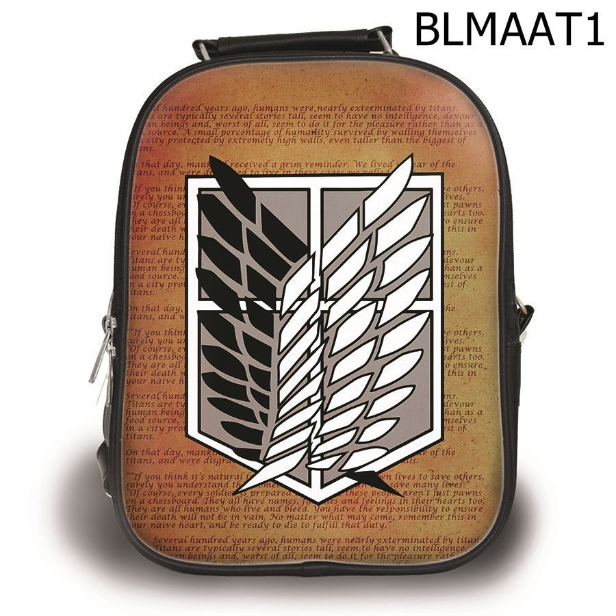 Ba lô attack on titan nâu - BLMAAT1