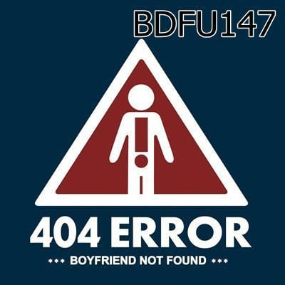 Túi rút 404 error boyfriend not found - BDFU147