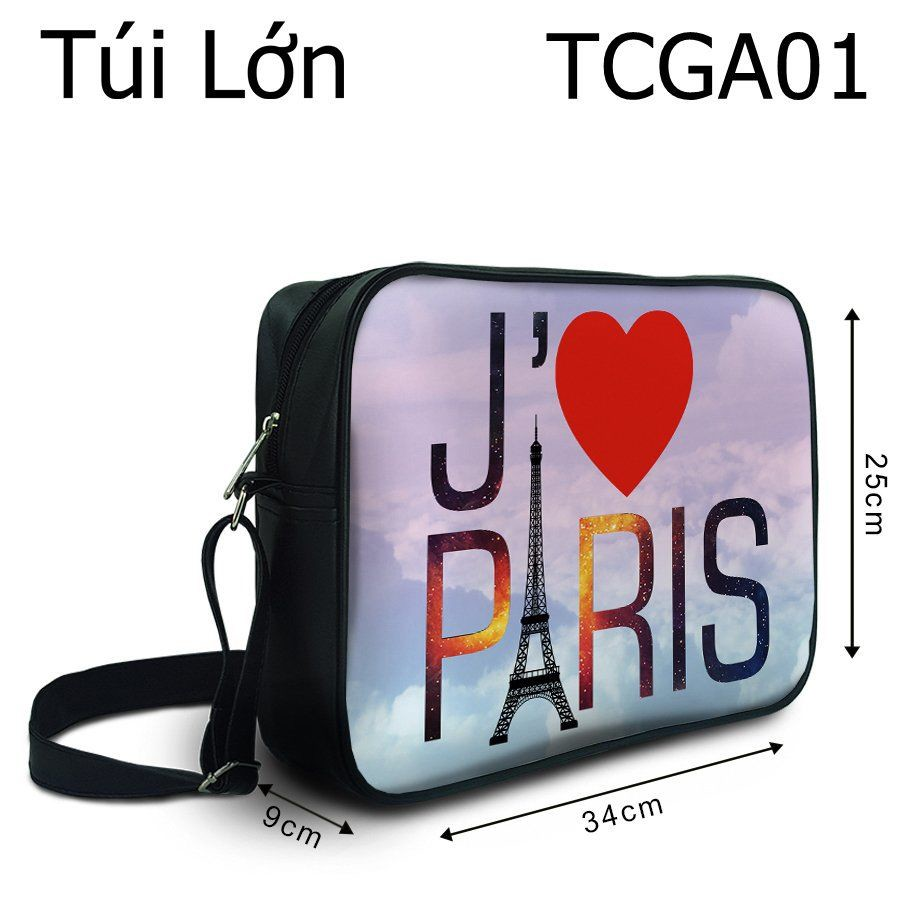 Túi Galaxy I Love Paris - TCGA01
