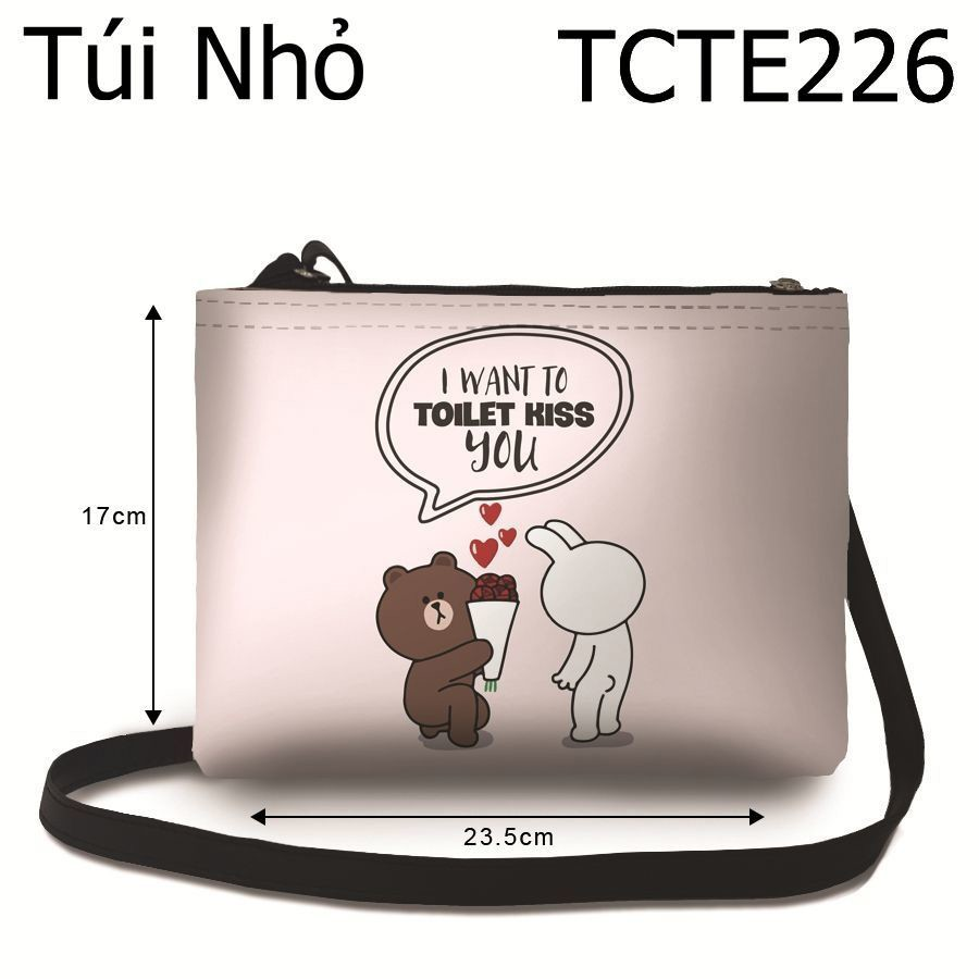 Túi I Want To Toilet Kiss You (Hoa) - TCTE226