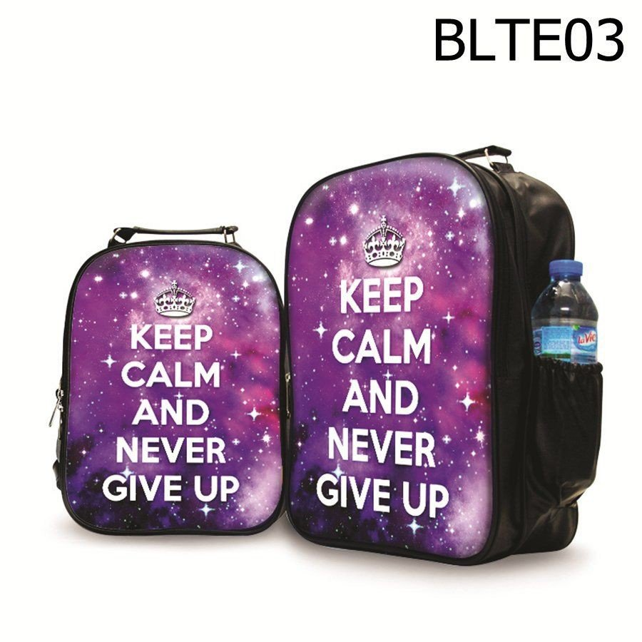Balô Quote Never Give Up - BLTE03