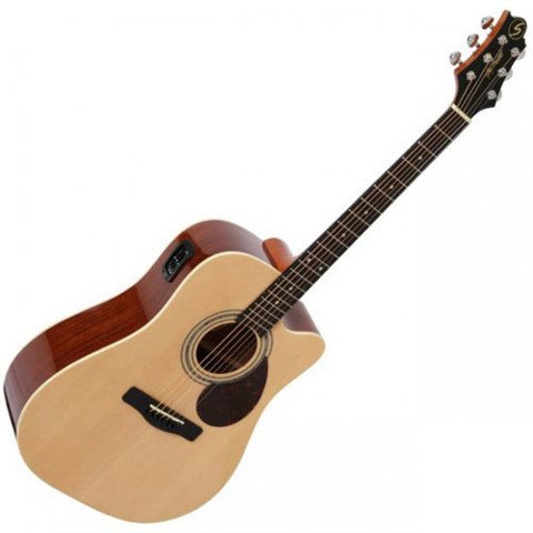 SAMICK D-2CE NAT ACOUSTIC GUITAR
