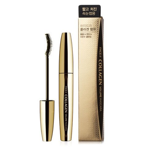 Mascara FACE IT COLLAGEN VLM MASCARA #01 FOR SHORT AND SGING EYE