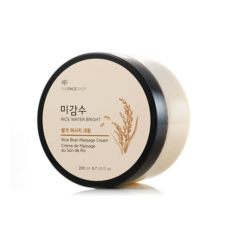 Kem Massage Làm Sáng Da Có Hạt THEFACESHOP RICE WATER BRIGHT RICE BRAN MASSAGE CREAM