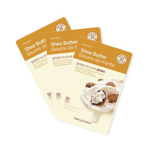 THEFACESHOP REAL NATURE SHEA BUTTER FACE MASK (SET 3 PCS)