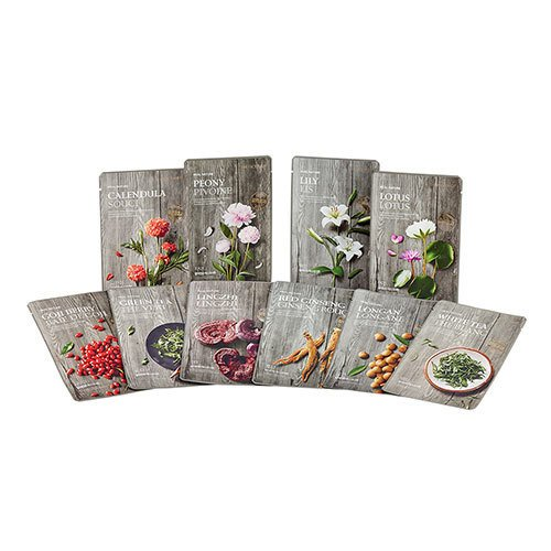 THEFACESHOP REAL NATURE LINGZHI FACE MASK (SET 5 PCS)