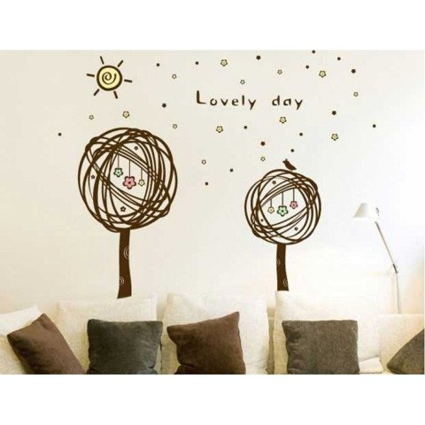 #BT001 Lovely Day - Decal dán tường - 1