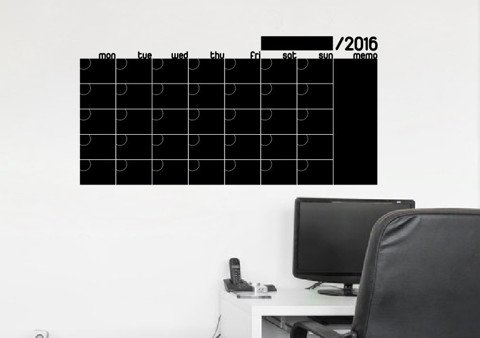 #BB003 Chalkboard calendar with memo - Decal dán tường - 1