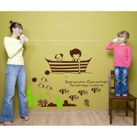 #BO005 Boy Fishing - Decal dán tường - 1