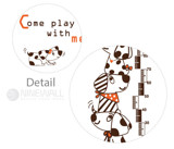 #BR018 Come play with me - Decal dán tường - 4