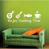 #DK020 Enjoy cooking Time - Decal dán tường - 3