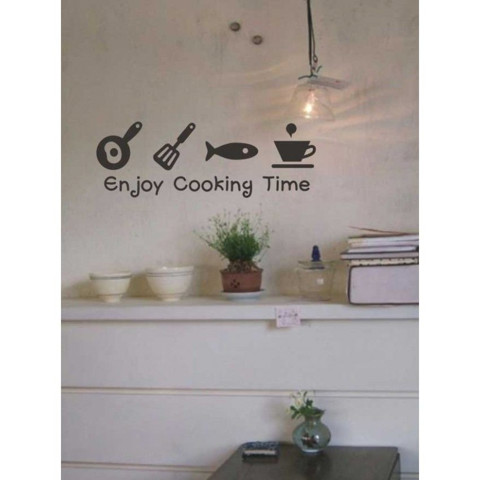 #DK020 Enjoy cooking Time - Decal dán tường - 1
