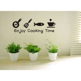 #DK020 Enjoy cooking Time - Decal dán tường - 5