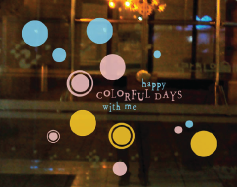 #FA009 Colorfull days with me - Decal dán tường - 1