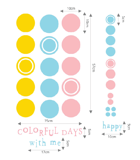 #FA009 Colorfull days with me - Decal dán tường - 2