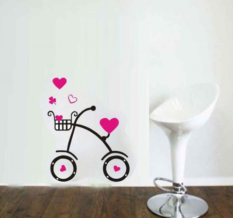 #FL023 Bike Decorative - Decal dán tường - 1