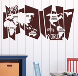 #FT004 A map world - Decal dán tường - 3