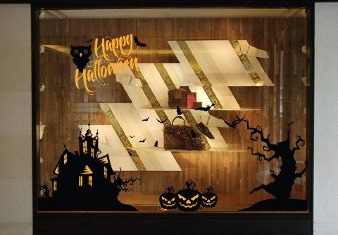 #HH001 Halloween with haunted house - Decal dán tường - 1