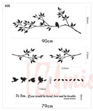 #NB009 Branches With Birds - Decal dán tường - 2