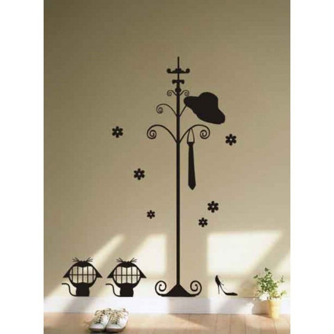 #DT002 Hanger Stand - Decal dán tường - 1