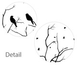 #ND008 With Birds - Decal dán tường - 3