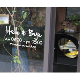 #TO003 Hello & Bye - Decal dán tường - 3