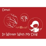 #BP021 In Winter With My Dog - Decal dán tường - 6