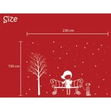 #BP021 In Winter With My Dog - Decal dán tường - 2